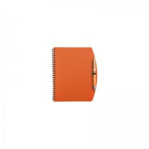 Poznámkový blok oranžový s perom