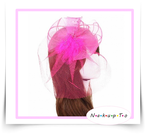 fascinator-ruzovy